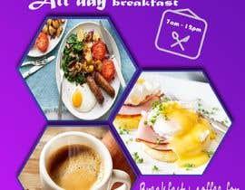 "Anindoray tarafından Poster design for ""Breakfast menu + coffee for $2.5"" için no 24"