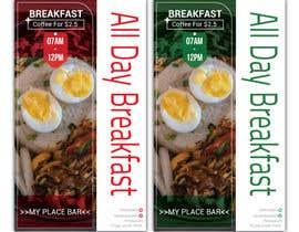 "mdrifatmiah0101 tarafından Poster design for ""Breakfast menu + coffee for $2.5"" için no 29"