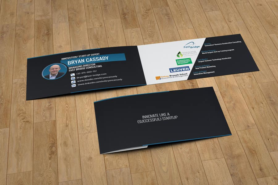 Entry #9 by KarlosSatana for An innovate folded business card ...