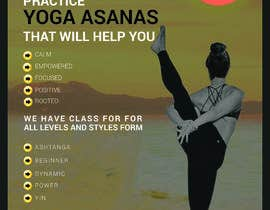 #27 for Design a A4 Yoga Poster af Sahedhossain992