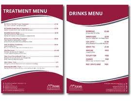 """Nro 8 kilpailuun Create a double sided """"Treatment"""" & """"Drinks"""" menu käyttäjältä FALL3N0005000"""