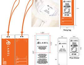 #9 for Develop tags for clothes - present concept, artwork and measurements af kmtitu