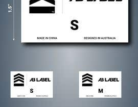 #11 for Develop tags for clothes - present concept, artwork and measurements af saali818
