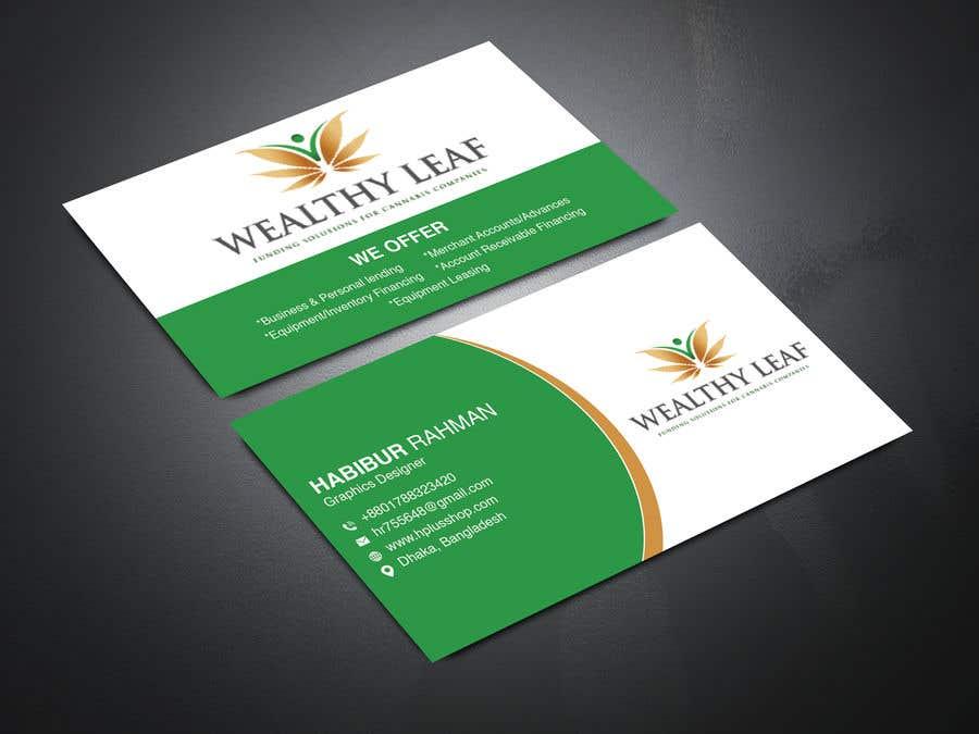 Proposition n°74 du concours Wealthy Leaf needs business cards