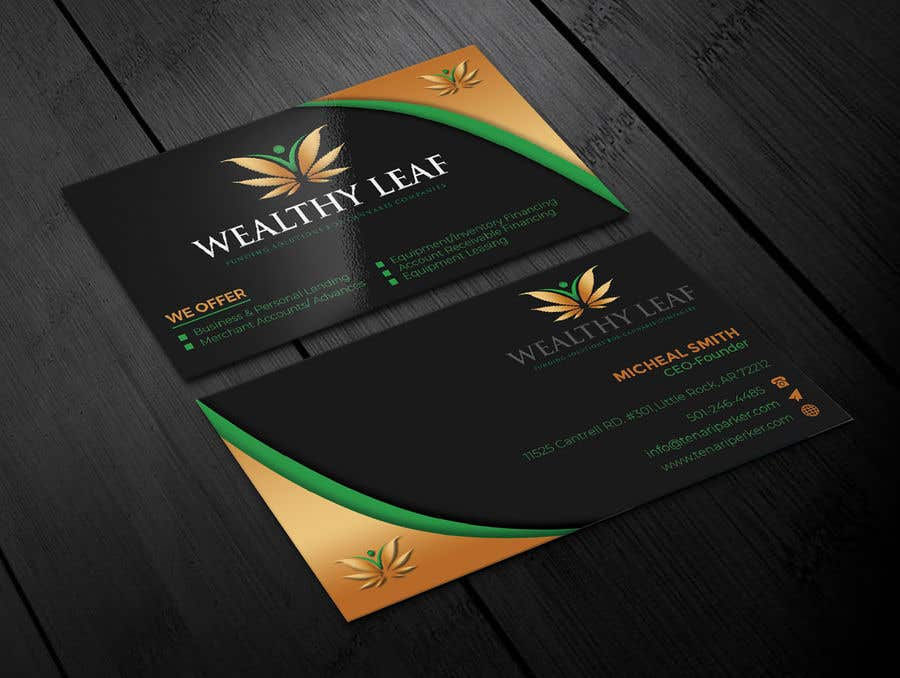 Proposition n°140 du concours Wealthy Leaf needs business cards