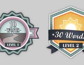 #17 for Design badges for an language learning platform by WeH1D