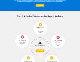 Nro 14 kilpailuun Design a landing Page for File Conversion Page käyttäjältä CoderSagor