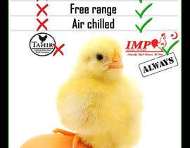 #23 para Advertisement Design for chicken product comparison por Utnapistin