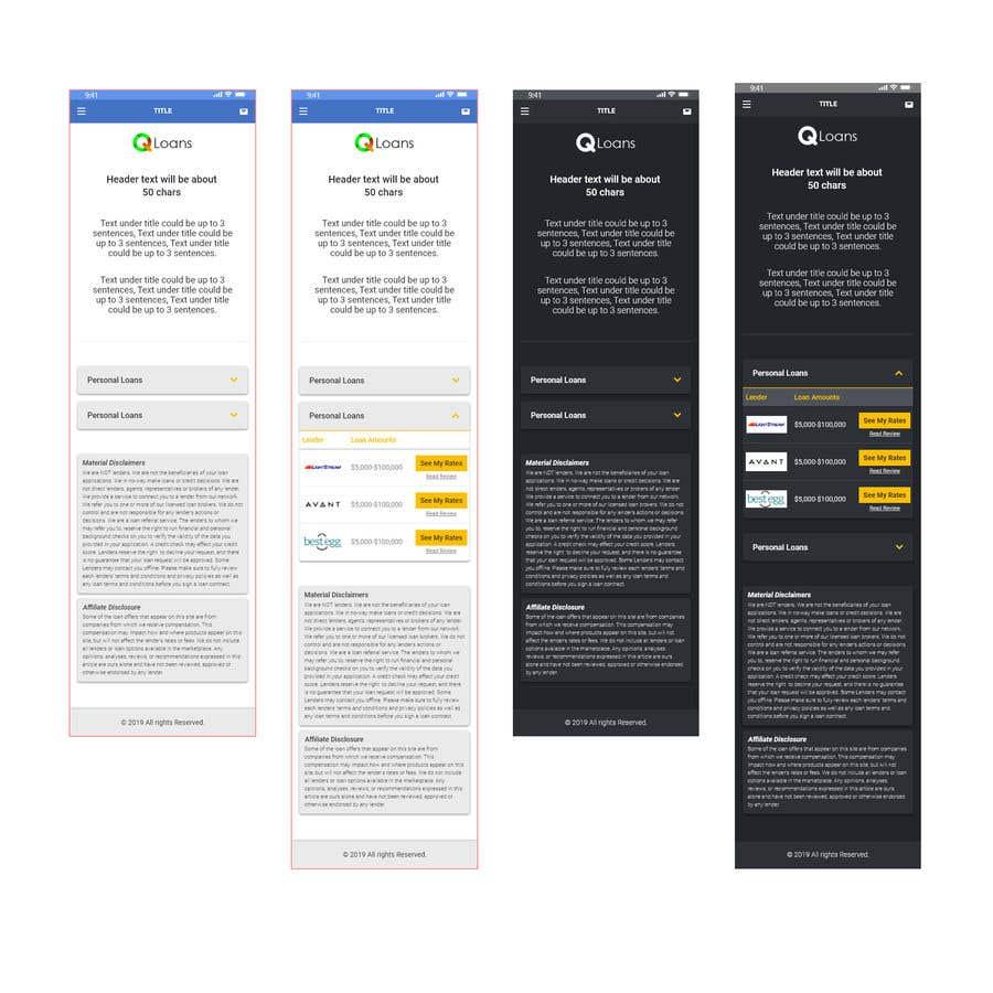 Конкурсная заявка №2 для Design a wireframe for an app page