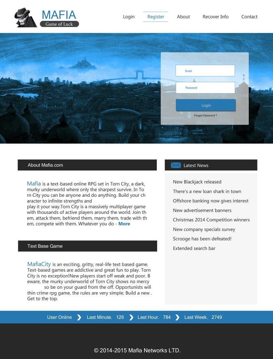 Penyertaan Peraduan #                                        7                                      untuk                                         Mafia Game website homepage design