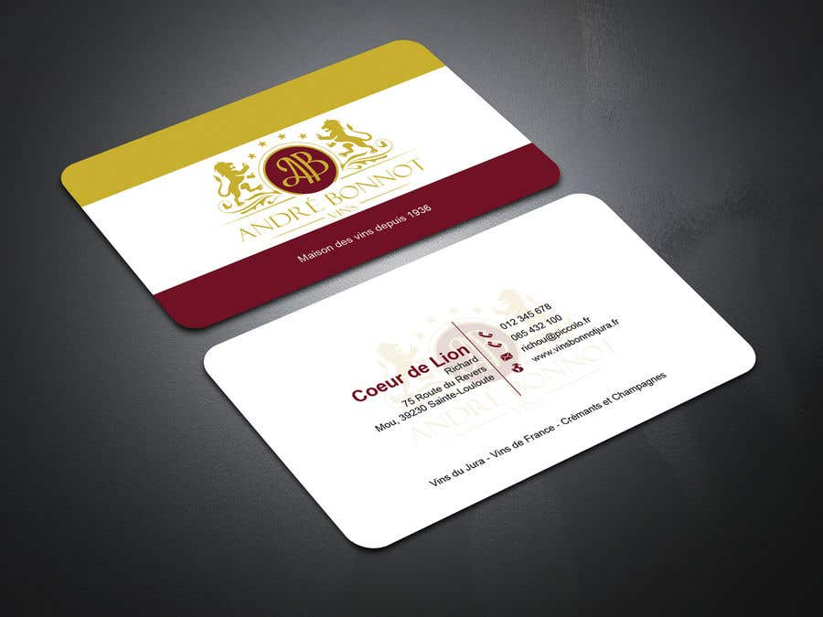 Proposition n°                                        119                                      du concours                                         Create visit card