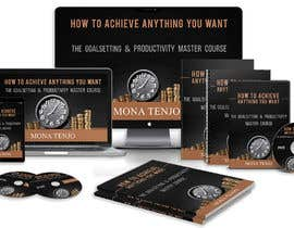 "creativeRussell tarafından Product Cover Design for Online Course ""How to Achieve Anything You Want - The Goalsetting & Productivity Master Course"" için no 45"