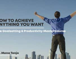 "kukuhwibowo tarafından Product Cover Design for Online Course ""How to Achieve Anything You Want - The Goalsetting & Productivity Master Course"" için no 15"