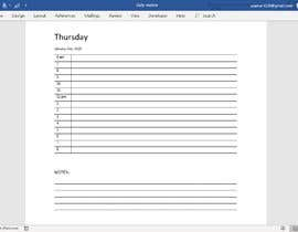 #9 for Create daily planner in MS word for 2020 by USAmakhan099