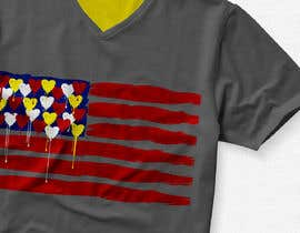 "#204 untuk T-Shirt Design ""US Flag with Bleeding Hearts - Brushed Painted"" oleh mrk1designs"