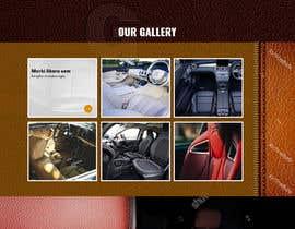 nº 75 pour Home page design for Leather Car Interiors website par saidesigner87