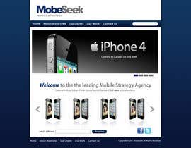 #33 pentru Website Design for MobeSeek - mobile strategy agency de către ronakmorbia