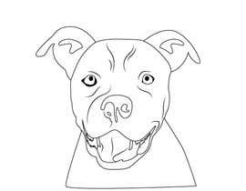 Xikk tarafından Caricature of a dog's face in a vector image with black lines only için no 8