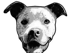 Ozamah tarafından Caricature of a dog's face in a vector image with black lines only için no 2