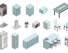 #35 cho Isometric hotel amenities elements for room and home reservation website bởi FALL3N0005000