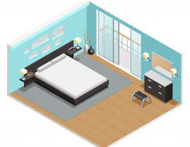 #36 cho Isometric hotel amenities elements for room and home reservation website bởi FALL3N0005000