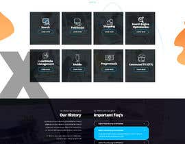 #38 for Design home page for digital marketing agency in psd by tajenul