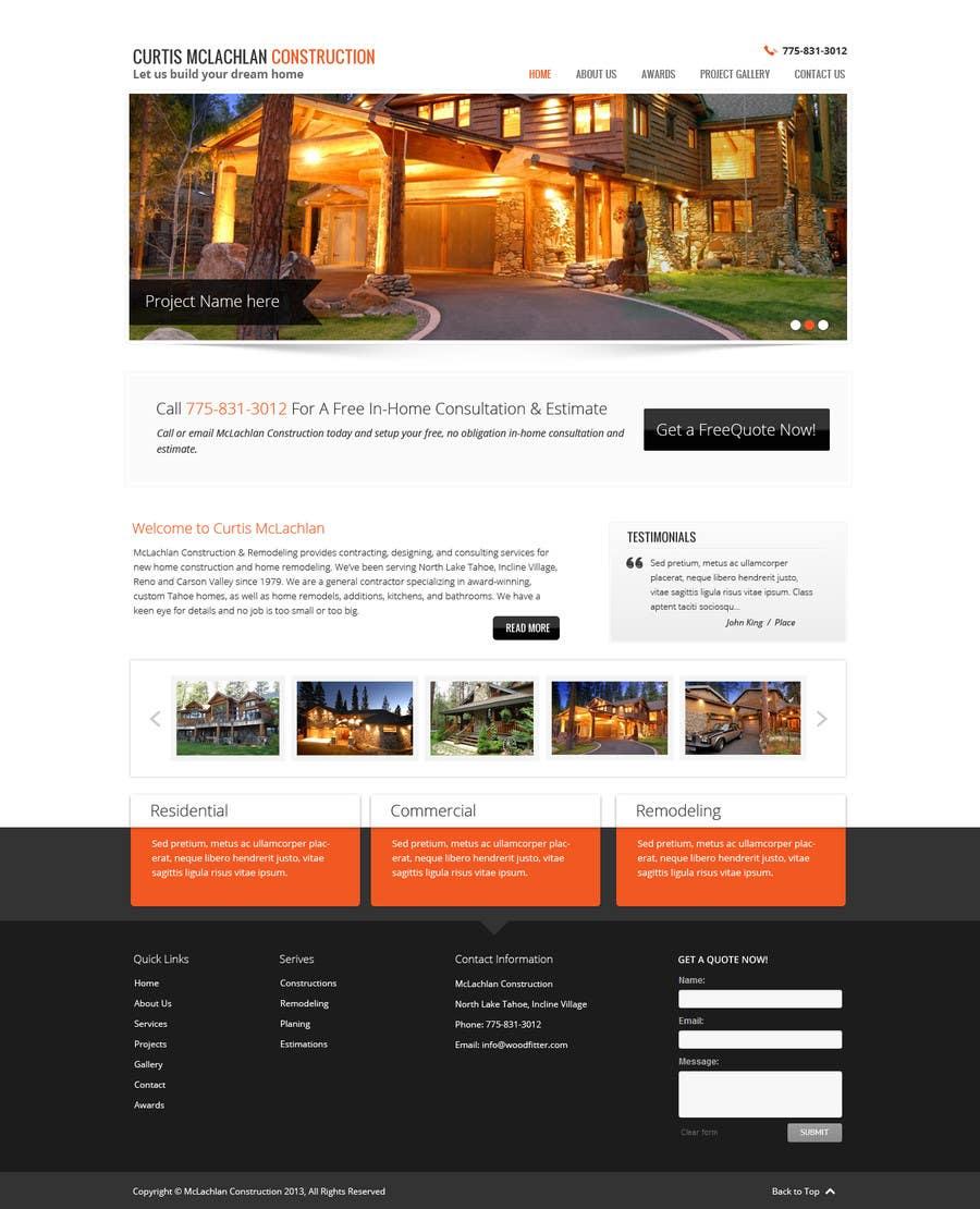Konkurrenceindlæg #                                        7                                      for                                         Website Redesign for Upscale Building Contractor