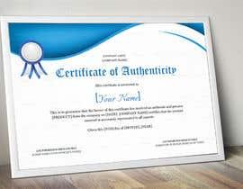 maryamshaikh tarafından Create Certificate of Authenticity için no 20