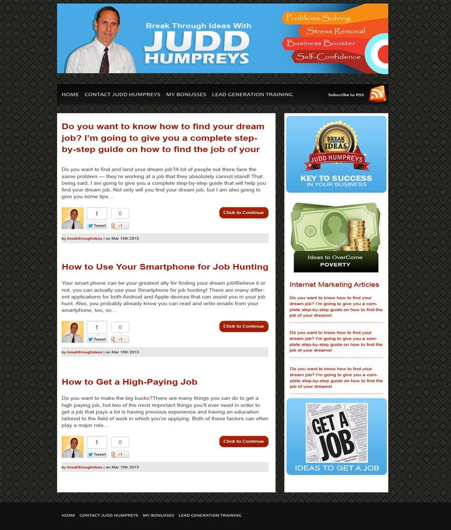 Kilpailutyö #40 kilpailussa Graphic Design for My Blog - Includes Header and total appearance