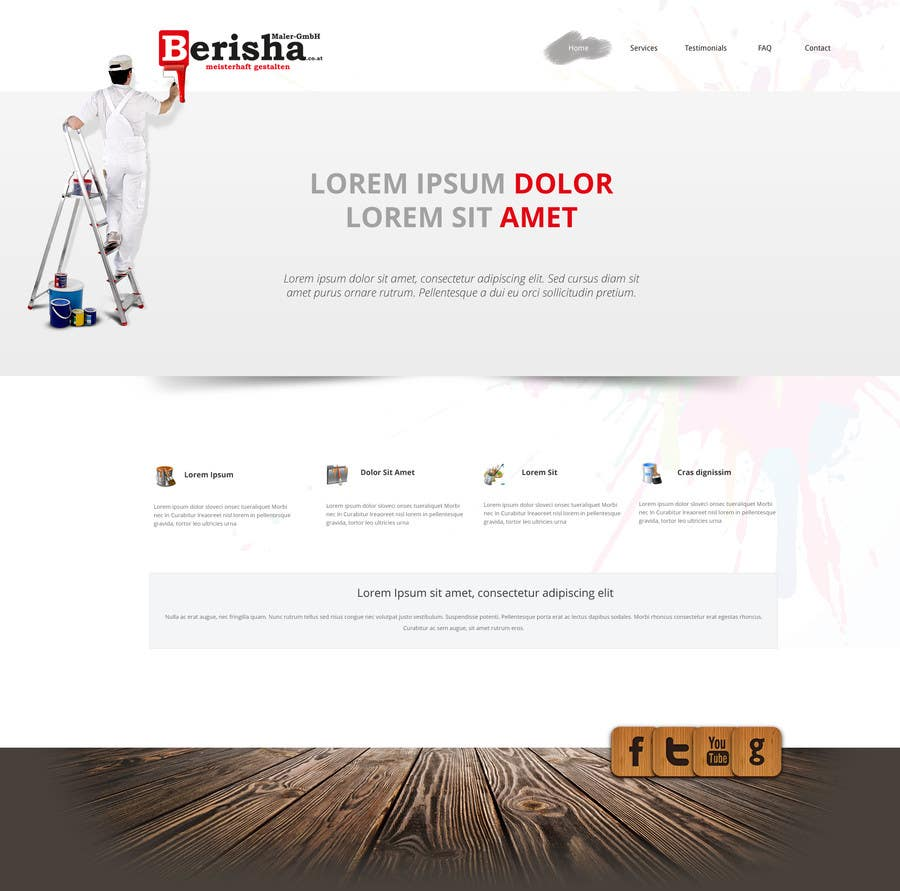 #5 for Website Design and programming for Painter Company by webgik