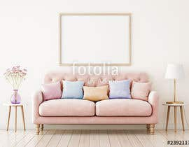 Eldinas01 tarafından Mockup for 5 posters in a room with a modern interior design için no 6