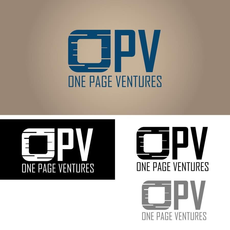 Inscrição nº                                         129                                      do Concurso para                                         Logo Design for OnePageVentures - start up company