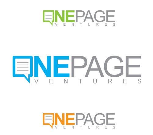 Inscrição nº                                         147                                      do Concurso para                                         Logo Design for OnePageVentures - start up company