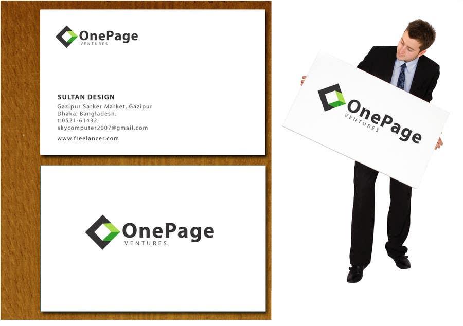Inscrição nº                                         140                                      do Concurso para                                         Logo Design for OnePageVentures - start up company