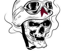 #31 for Illustrate a Biker Skull with a Helmet af Ashly3