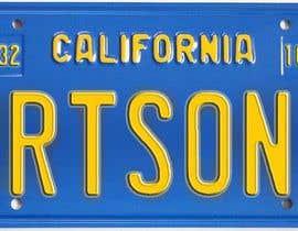 #3 pentru Digital Image of a License Plate de către JuliaB89
