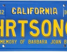 #12 pentru Digital Image of a License Plate de către JuliaB89