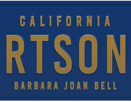 #7 pentru Digital Image of a License Plate de către MMSimon