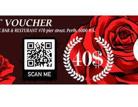 #7 для design a voucher $40 with barcode or qr от bimasandi