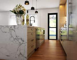 nº 6 pour Floor plan and kitchen render par rezonbd