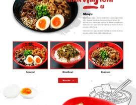 Nro 21 kilpailuun Web Design for Japanese Ramen Restaurant käyttäjältä saidesigner87