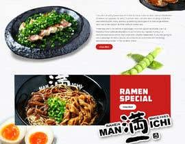 Nro 22 kilpailuun Web Design for Japanese Ramen Restaurant käyttäjältä saidesigner87