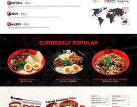 Nro 45 kilpailuun Web Design for Japanese Ramen Restaurant käyttäjältä dking82