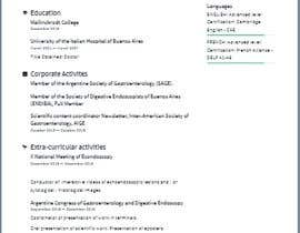 #2 cho Curriculum Vitae - Medical Doctor: Translation From Spanish to English and format bởi AisyahMukhtar