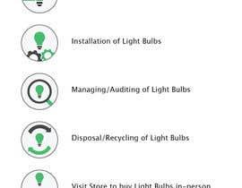sebcornelius tarafından Light Bulb Store Button / Icons için no 53