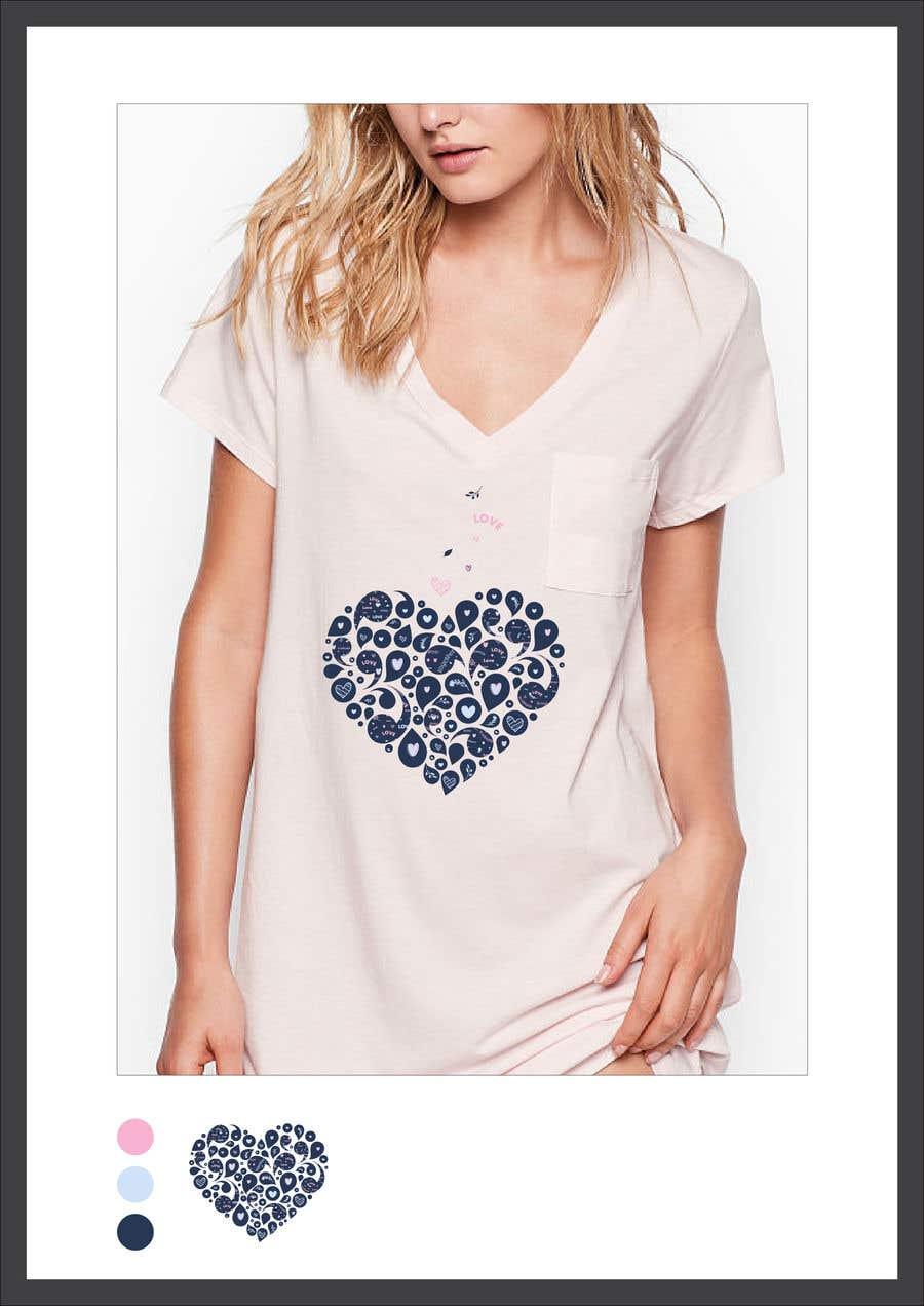 Kilpailutyö #121 kilpailussa Fun Designs for Ladies Nightshirts