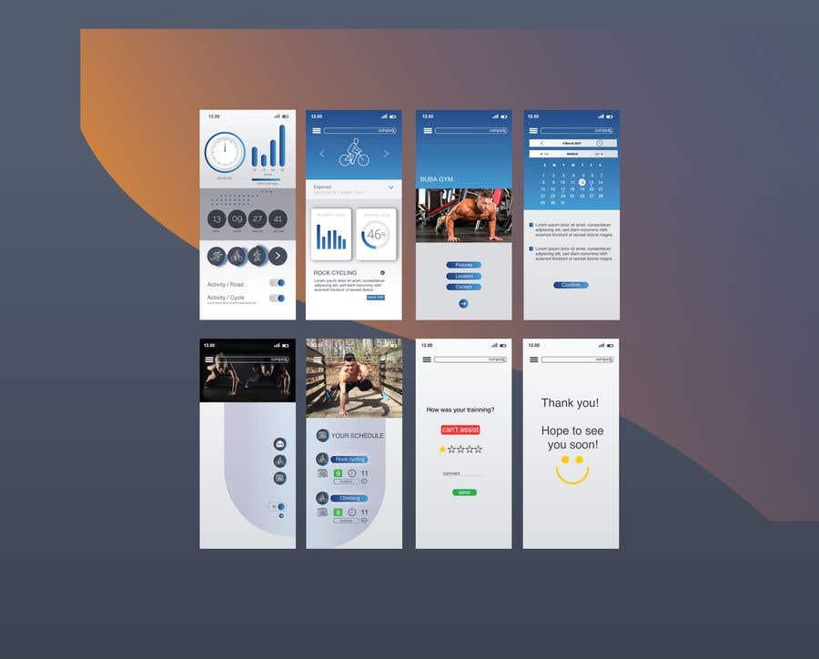 Bài tham dự cuộc thi #6 cho UX UI design for gym members / Fitness app
