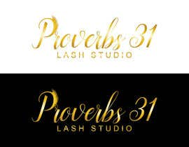 """#105 for I need a logo created for a lash salon. It needs to say """"Proverbs 31 Lash Studio"""" would like Proverbs 31 in gold and lash studio in rose gold or light pink. by tahminaakther512"""