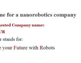 #67 for Find name for a nanorobotics company by datascrapper724