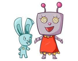 #80 for Create a cartoon character of Robot Girl with pet by ToaMota